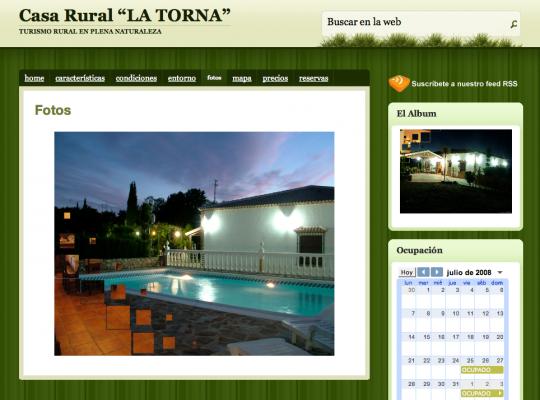 La web de CASA LA TORNA terminada